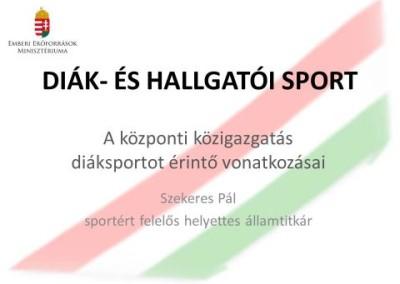 Egyetemi-, Főiskolai és Diáksport Szakmai Fórum 2013. június 6