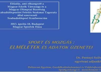 Szabadidős sport konfrencia 2013