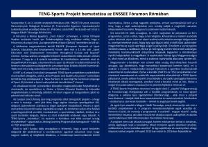 TENG-Sports Projekt bemutatása az ENSSEE Fórumon Rómában