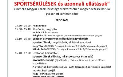 Sportsérülések gyakorlati konferencia – Debrecen 2016.június.2.