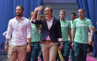 Olimpikonok fogadása a Syma Csarnokban