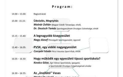 Sportegyesületek irányítási modellje konferencia 2016.december.7.