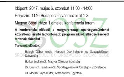 Első országos sportegyesületi találkozó  május.6.