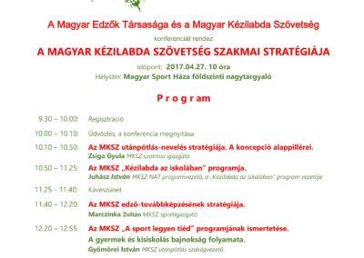 Magyar Kézilabda Szövetség szakmai stratégiája konfrencia 2017.április.27.