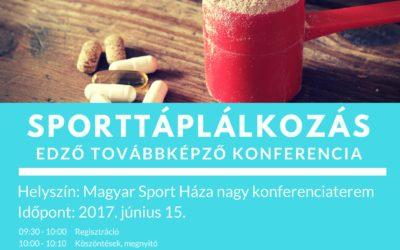 Sporttáplálkozás konferencia  2017.június.15.