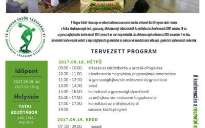 TATAI edző továbbképzés 2017.09.18-09.19
