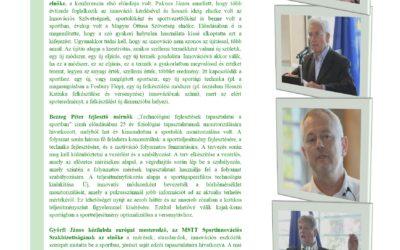 Innovatív módszerek az edzéstervezésben konferencia összefoglaló 2017.október.12.