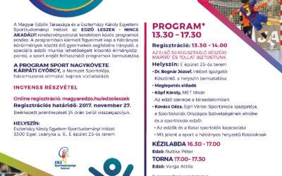 Edző leszek nincs akadály! konferencia sorozat Eger 2017.november.28.