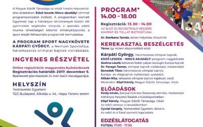 Edző leszek nincs akadály! konferencia sorozat Budapest 2017.december.6.