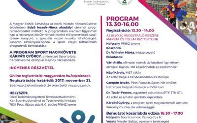Edző leszek nincs akadály! konferencia sorozat  Pécs.november.23.