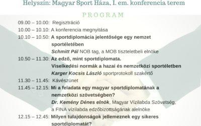 Sportdiplomácia az edző, mint sport diplomata konferencia március.6.