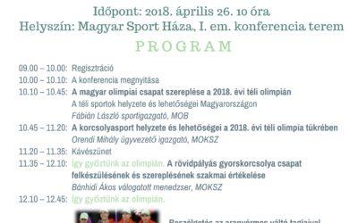 Téli sportok helyzete és lehetőségei konferencia 2018.április.26.