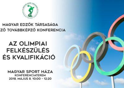 Az olimpiai felkészülés és kvalifikáció konferencia 2018.május.8.